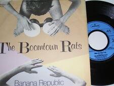 "7"" - Boomtown Rats Banana Republic & Man at the Top - Lyrics # 5219"