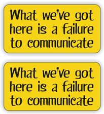Hard Hat Stickers / 2 Funny FAILURE TO COMMUNICATE / Helmet Safety Decals Labels
