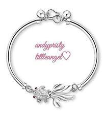 925 Sterling Silver Fish Bangle Bracelet for Women