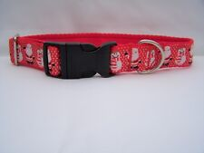 Christmas dog collar gift red santas and snowmen for small, medium & large dogs