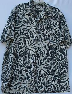 Joseph & Feiss men's short sleeve classic fit silk Hawaiian/Aloha shirt medium