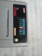 Operation Starfish  SNES tested and working .