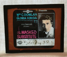 Masked Substitute Universal Films Lantern Slide Advertisement 1915 Dowlan Fonda