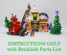 Winter Village Whoville CUSTOM INSTRUCTIONS ONLY for LEGO Bricks (Grinch)
