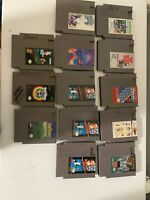 LOT OF 13 NINTENDO GAMES Nes ) SUPER MARIO BROS Star Tropics Tetris Super C