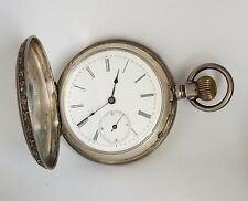 Hunting Case Pocket Watch Antique Vintage .800 Silver