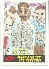 2017 Topps Mars Attacks The Revenge ! Martian vs Gang Sketch  by RA Richardson