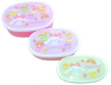 3 Sets Microwavable Bento Box Cinnamoroll Lunch Box Snack Container Japan Made