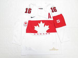 JONATHAN TOEWS TEAM CANADA WHITE SOCHI 2014 OLYMPICS NIKE HOCKEY JERSEY