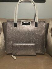 Kate Spade Taden Mavis Street Anthracite Large Tote Glitter Shoulder Bag