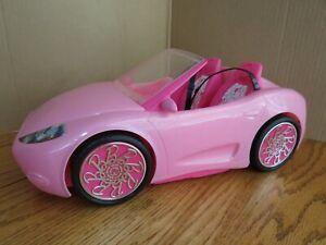Mattel Barbie Pink Glam Convertible Car 2010 Model