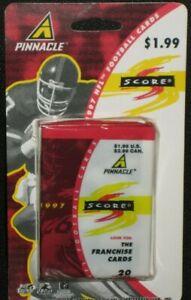 MIP 1997 Pinnacle Score Football Jumbo Pack in Sealed Hanging Package