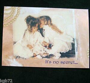 Leanin Tree Valentine Card Valentine's Day Anyone Little Girls Angels V3