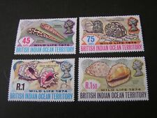 BRITISH INDIAN OCEAN TERRITORY, SCOTT # 59-62(4),1974 SEASHELLS ISSUE MNH