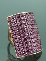 Turkish Handmade Jewelry 925 Sterling Silver Ruby Stone Ladies' Ring Sz 7