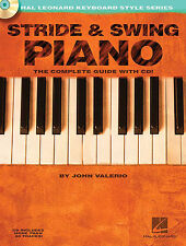 Stride And Swing Piano Learn to Play Keyboard Lesson Sheet Music Book & CD