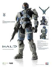 "ThreeA HALO Reach - COMMANDER CARTER 13.5"" Action Figure 1/6 Scale 3A 3AA XBOX"