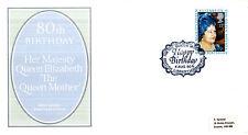 4 AGOSTO 1980 Regina Madre 80th Compleanno PO PRIMO GIORNO DI COPERTURA British Library SHS
