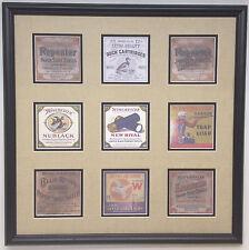 Winchester old shotgun shell boxes nostalgic replica framed display