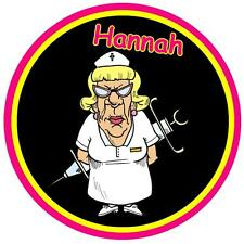 SCARY NURSE - FUNNY CAR TAX DISC HOLDER - PERSONALISED - ANY NAME - NEW - GIFT
