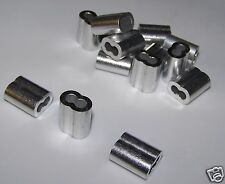 """1/8"""" Aluminum Cable Crimps/Sleeves (LOT OF 50) NEW"""