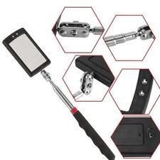 Telescopic Mirror Inspection Pocket Clip Car Tool w/LED Adjustable Light Q9S8