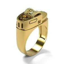 Lighter Punk Party Jewelry Gift Size 7 New listing Fashion 18k Yellow Gold Rings for Men