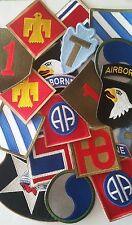 Lot marchand de 50 Patches US 82nd 101st Airborne et divers au choix WW2 REPRO