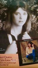 Suzi Quatro 1978 If you knew Suzi record store promo poster Stumblin In Rbx73