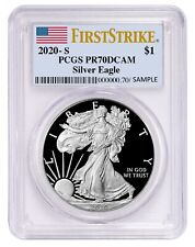 2020 S Silver Eagle Proof PCGS PR70 - First Strike Label - PRESALE