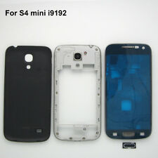 Black full housing case front middle frame back cover Replacement Galaxy S4 mini