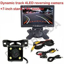 "7"" inch AV TFT Screen + 4LED Car Track Dynamic Trajectory Rearview CCD Camera"