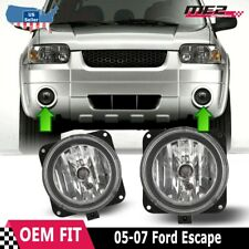 For Ford Escape 05-07 Bumper Driving Fog lights Lamps Replacement Pair Clear