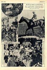 Die Grosse (Pferderennen-)Woche in Baden-Baden *  Drei Bilddokumente von 1906