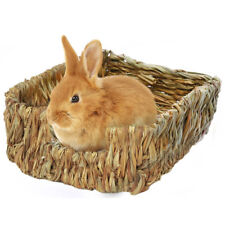 Pet Woven Natural Straw Grass Mat Edible Rabbit Small Animal Bedding Nest Litter