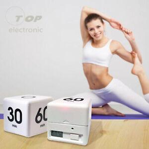 Clock Timer Alarm Cube Digital 5, 15, 30, 60 Mins Time Management Kitchen Home