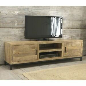 Cove Reclaimed Wood Indian Furniture Large Television Cabinet