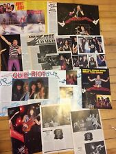 Quiet Riot, Lot of Five Two, Three and Four Page Vintage Clippings
