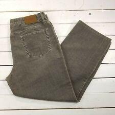 Alberto Tommy Fancy Velvet Pants Mens 36x29 Gray Mid Rise Straight Leg J18