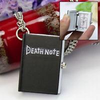 Vintage Death Note Book Quartz Pocket Watch Charm Pendant Chain Necklace Gift
