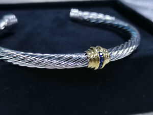 Beautifully crafted David Yurman cable gemstone bracelet, authentic and new