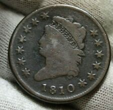 1810 Penny Classic Head Cent - S-282 R-2, Nice Coin, Free Shipping (9487)