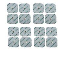 Espiga de almohadillas Electrodos Tens Cuadrados 5 X 5 cm paquete de 16 Almohadillas Adhesivas larga vida Gel