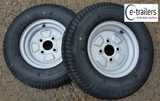 BARGAIN TRAILER WHEELS TYRES 145x10 4ply 100mm PCD - 60mm center 750Kg rated x 2