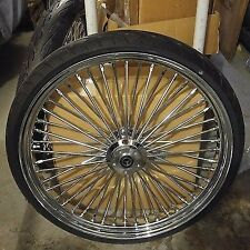 26 X 3.5 FAT SPOKE WHEEL SINGLE  DISC,W /TIRE 4 HARLEY TOURING FLH/FLT 2000-07
