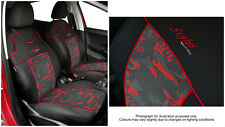 2 X CAR SEAT COVERS pair for front seats fit Peugeot 206 VEST SHAPE (red)