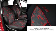 2 X par cubiertas de asiento de coche para asientos delanteros de ajuste Ford Focus Chaleco forma (rojo)