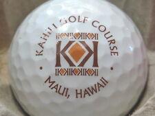 (1) Kahili Maui Hawaii Golf Course Logo Golf Ball