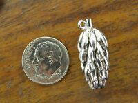 Vintage sterling silver BUNCH OF BANANAS 3D DETAILED charm