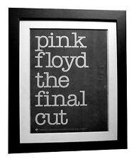 PINK FLOYD+The Final Cut+POSTER+AD+RARE+ORIGINAL 1983+FRAMED+EXPRESS GLOBAL SHIP